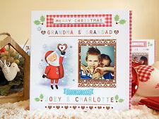 PERSONAL CHRISTMAS CARD with Photo Personalised Grandad Grandma Nana etc