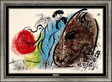 Marc Chagall The Sorrel Horse Original Color Lithograph Hand Signed Framed Art