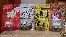 "Kidrobot Smorkin' Labbit 2.5"" Set of 4 Designer Vinyl Toy by Artist Frank Kozik"
