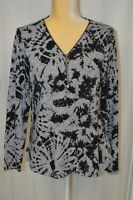BALI Women's 3/4 Zip Pullover Sweater - Size Large