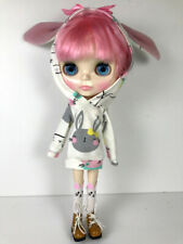 Blythe doll handmade cute bunny hoodie sweatshirt  top outfit clothes