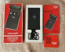 Vintage 1974 Heuer microsplit 420 electronic timer. Boxed. Digital stopwatch.