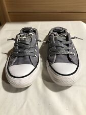All Star Converse Girls Size 5 Gray