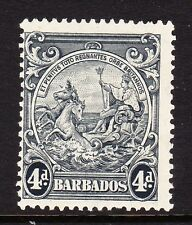 BARBADOS 1938-47 4d WITH 'FLYING MANE' SG 253a MNH.