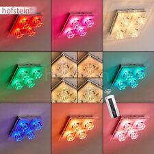 Plafonnier LED Lampe suspension Changeur de couleur Lampe de salon Lustre Verre