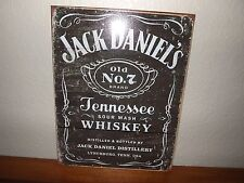 JACK DANIELS TENNESSEE WHISKEY OLD NO. 7 BRAND TIN SIGN - RUSTIC LOOK-BRAND NEW