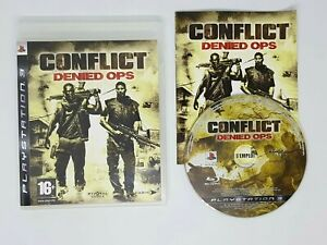 Playstation 3 Ps3 Conflict Denied Ops VGC FAST FREE POST FRENCH VERSION