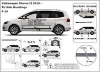 Zierleiste Seitenschutz Türschutz für VW Sharan II Van Kombi 7N 2010-