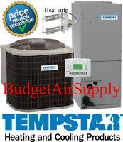 4 ton 14 Seer HEAT PUMP TEMPSTAR Complete 410a Split System +Heat strip+Extras