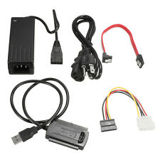 USB 2.0 To SATA / IDE Hard Drive EU AC Cable For HDD Converter Adapter Power