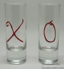 Pair of XO Hand Painted Shot Glasses