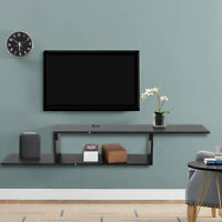 Wood Floating Wall Mount TV Stand Media Console Modern Storage Cabinet
