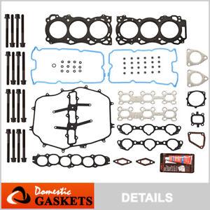 Fits 05-08 Infiniti FX35 G35 M35 3.5L DOHC Head Gasket Set Bolts VQ35DE
