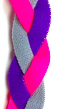 NEW! Hot Pink Gray Grey Purple Grippy Band Headband Hair Sport Soccer Softball