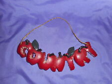 Vintage Homco Home Interior Country Apples Wall Plaque #7618-B
