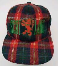 f25e4515be42b Sampson Scotland Red Green Tartan Plaid Snapback Hat Cap 100% Wool