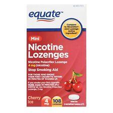 Equate Mini Nicotine Lozenges, Cherry Ice Flavor, 4 mg, 108 Count