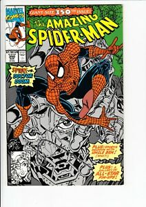 AMAZING SPIDER-MAN #350 (Marvel 1991): LARSEN CVR / DR DOOM, BLACK FOX  --  FN+