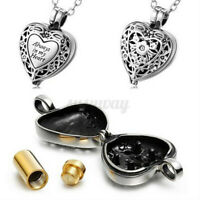 Heart Cremation Urn Necklace For Ashes Jewellery Keepsake Memorial Pendant