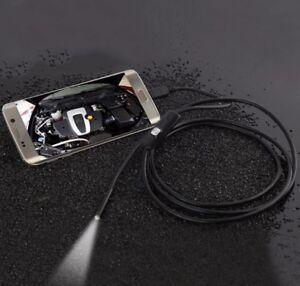 Portable 1M 7MM Waterproof Android Endoscope Borescope Tube Snake Camera