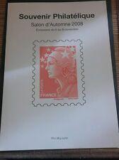 Document souvenir philatélique salon d'automne 2008 premier jour 11/2008