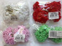"LOT 144 Silk / Satin like 1/4"" RIBBON ROSES Wire Stem Pick Colors Wedding Crafts"