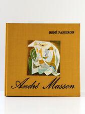 André Masson et les puissances du signe, René PASSERON. Denoël 1975. AUTOGRAPHE