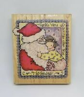 "Penny Black Rubber Stamp 1998 ""Santa Memories"" Crafts Christmas Card Stamp 1235K"