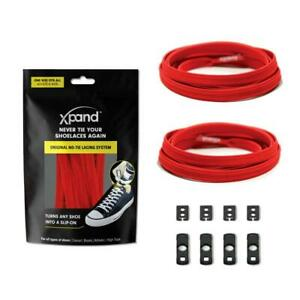 XPAND | RED FLAT LACES - MAKE ANY SHOES SLIP-ON!