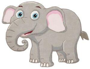 Elephant Nandi Gray Decor Home Hand tufted Wool 3x5 kids & Teen Rugs & Carpet