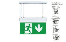 LED HANGING EMERGENCY EXIT SIGN LIGHT SURFACE MOUNTED OVERDOOR FIRE EXIT LIGHT