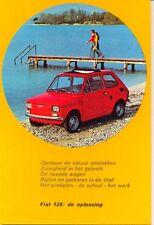 Fiat 126 Original Official Postcard - 3