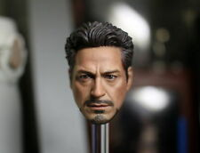 "1/6 Iron Man Tony Stark Head Sculpt For 12"" Hot Toys Phicen Male"