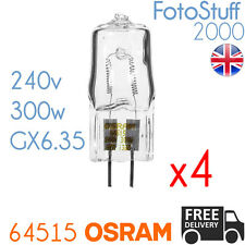 4X 64515 240v 300w GX6.35 Genuine Osram P1/23 | Disco / Stage / Studio Bulb
