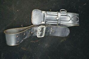Vintage Canadian Black Police Leather Belt