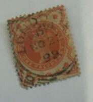 grande bretagne timbre oblitere 1899