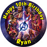 """Avengers: Infinity War personalised icing sheet cake topper 7.5"""" Round"""