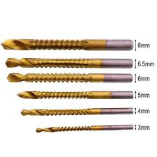 Titanium Drill Saw Bit Slot Cutting Wood Metal 3-8mm Hole Cutting Kit HSS 4241