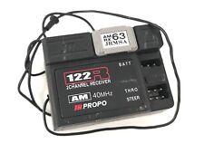 JR Propo ricevente vintage 122R 2 canali AM con quarzo modellismo