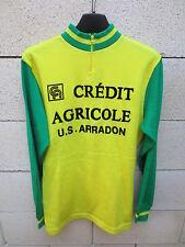 VINTAGE Maillot cycliste U.S ARRADON CREDIT AGRICOLE cycling jersey maglia S / M