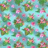 Blume gedruckt Baumwolle Nähen Stoff von der Werft 100% Baumwolle 44 Zoll breit
