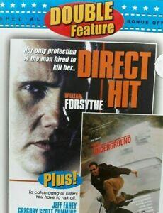 The Underground + Direct Hit DVD 1994 Willaim Forsythe Movie Jeff Fahey DOUBLE