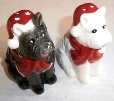 CHRISTMAS Salt & Pepper Set  CHRISTMAS DOGS