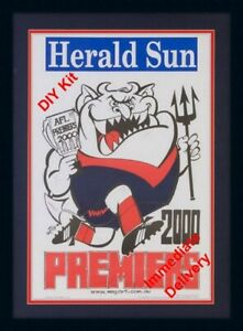 DIY Empty Frame kit for Melbourne Demons 2021 Mark Knight Poster Double Matt