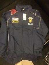 AFL Brisbane Lions Zip Up Jacket With Fold Away Hoodie Sizes XS,S,L,2XL,3XL
