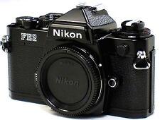 *** NEAR MINT *** Nikon FE2 35mm SLR Black Camera Body W/ Titanium Shutter