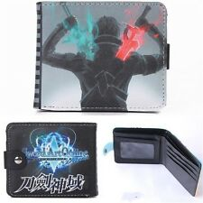 Men Sword Art Online SAO Kirito Bifold Wallet Card Credit Holder Purse Wallets