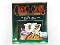Vintage CASINO GAMES Gold Edition Big Box PC Computer Game (Sealed) by MicroStar