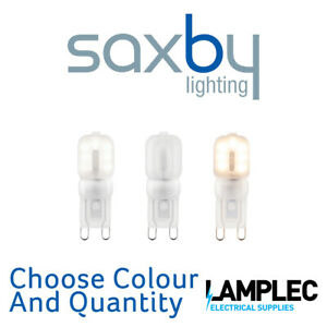 Saxby G9 LED Lamp SMD 2.5W Warm White or Cool White Frosted 200 Lumens 48mm High