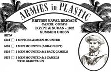 Armies in Plastic - Naval Brigade Camel Corps Summer Officer & Men 54mm 5634